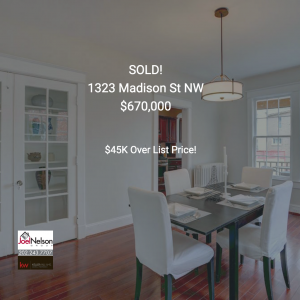 What Sold This Spring - 1323 Madison St NW